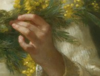 """William-Adolphe Bouguereau (French, 1825-1905), """"Mimosa"""" (""""The Mimosa Flower"""", detail, 1899)"""
