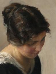 "Carl Vilhelm Holsøe (Danish, 1863-1935), ""Lady in Black"" (detail)"