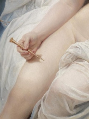 """Circle of Jacques-Louis David (French, 1748-1825), """"The Poetess Sappho"""" (detail)"""