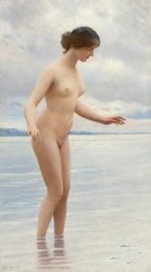 """Eugene de Blaas (Italian, 1843-1932), """"In the Water"""""""