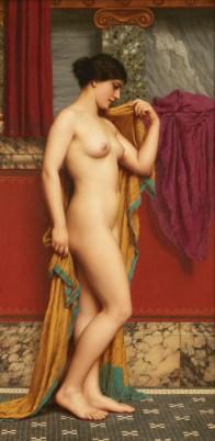 "John William Godward (English, 1861-1922), ""In the Tepidarium"""