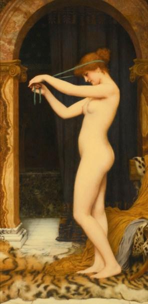 "John William Godward, ""Venus Binding Her Hair"""