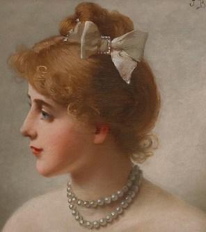 """Jules-Fréderic Ballavoine (French, 1855-1901), """"Portrait of a Woman"""" (detail)"""