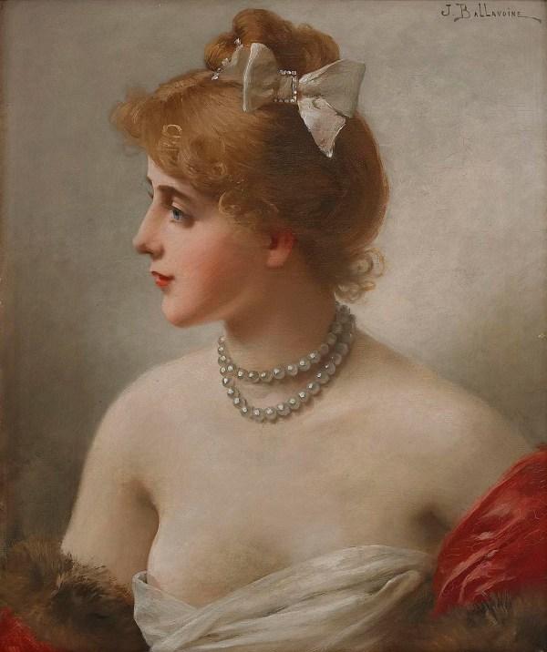 Jules-frderic Ballavoine French 1855-1901 Portrait Of Woman Arcadia Art