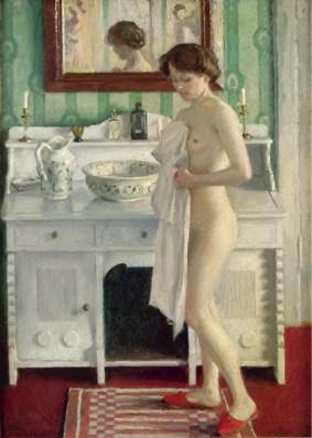 "Paul Gustave Fischer (Danish, 1860-1934), ""Morgentoilette"" (""Morning Toilette"")"