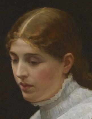"Sir John Lavery (Scottish, 1856-1941), ""Marguerite's Prayer, Faust Act III, Scene I"" (detail)"