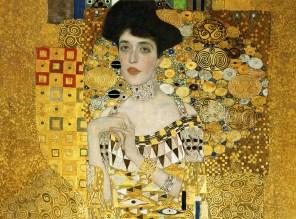 """Gustav Klimt (Austrian, 1862-1918), """"Portrait of Adele Bloch-Bauer I"""" (detail)"""