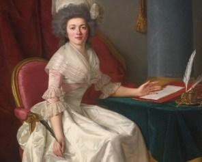 """Rose-Adélaïde Ducreux (French, 1761-1802), """"Portrait of a Lady"""" (detail)"""