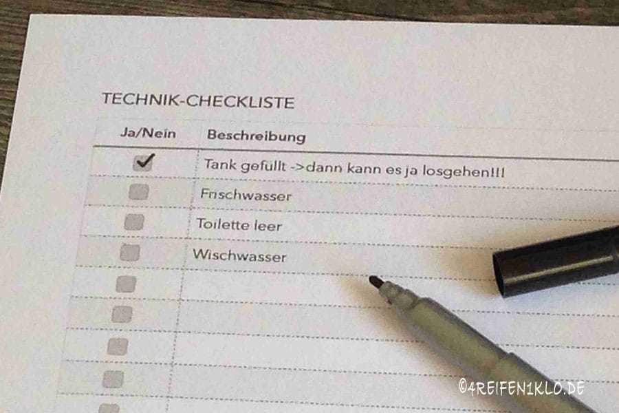 Checkliste Technik fürs Wohnmobil