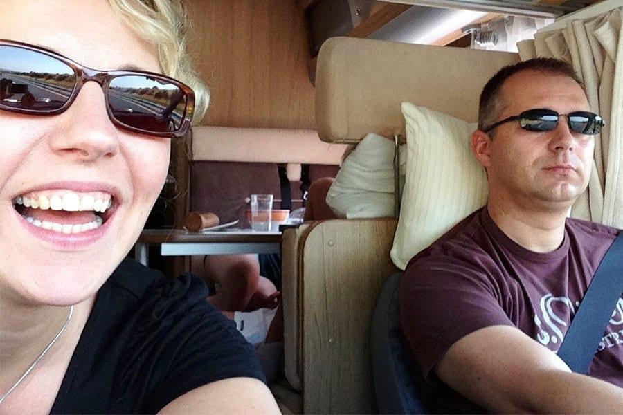 Bianca & Frank auf Fahrt