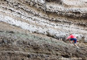 Die Kreidefelsen sind ein Abenteuer. Klettern kann man dort besonders gut