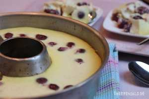 Süßer Kirsch Auflauf aus dem Omnia-Backofen