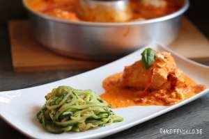 Gemüse Noldes zu Paprika-Feta-Hähnchen