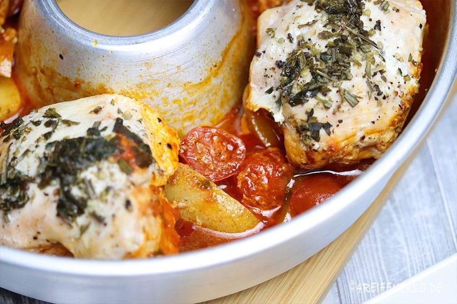Kartoffeln im Toskanischen Huhn
