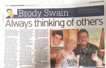 Brody Swain -August 2017 #30challenges