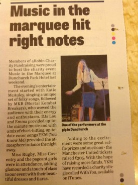 In the news! Music in the Marquee