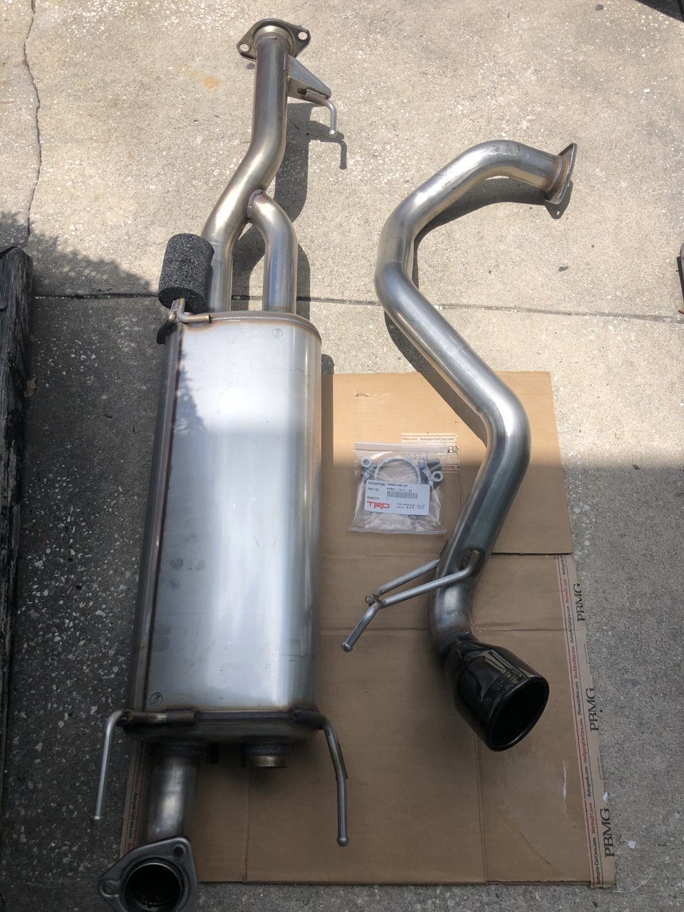 2020 oem trd exhaust sold toyota