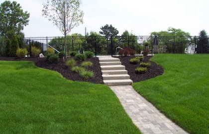 pavers concrete landscaping rocks