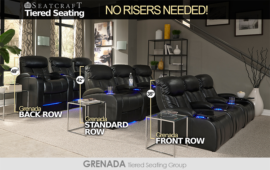 movie theatre chairs for home camping world seatcraft tiered theater seating without risers 4seating
