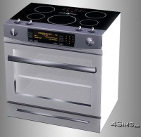 Ultra modern ceramic stove for Sims 3 - 4Sims