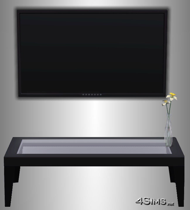Performant plasma wall TV for Sims 3  4Sims