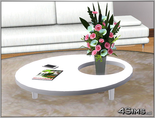 2 Round Coffee Tables For Sims 3 4Sims