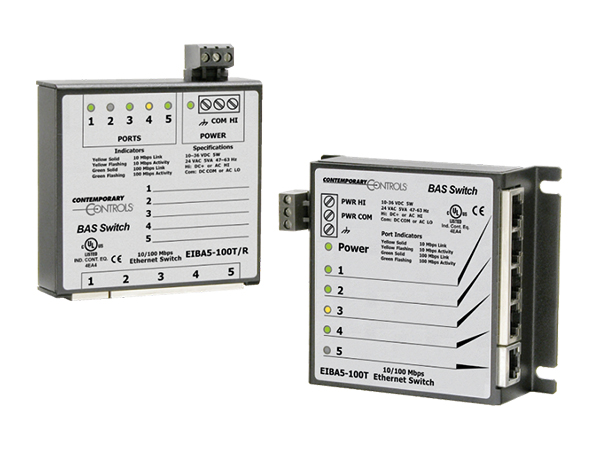 Productoverzichtpagina BAS switch serie unmanaged switches