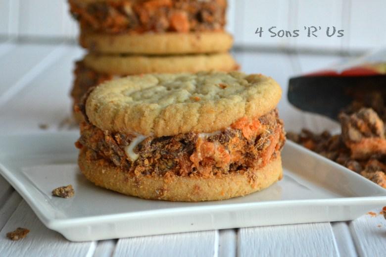Butterfinger Cookie Ice Cream Sandwiches 2
