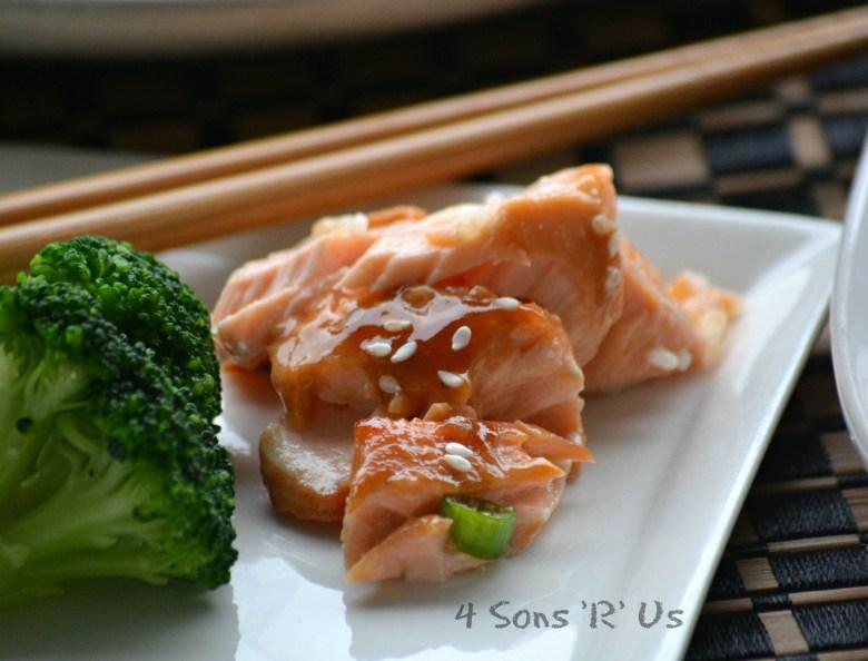 Teriyaki Salmon with a Sriracha Cream Drizzle 3