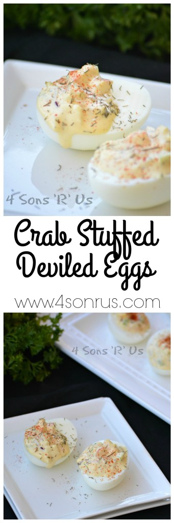 Crab Stuffed Deviled Eggs Collage