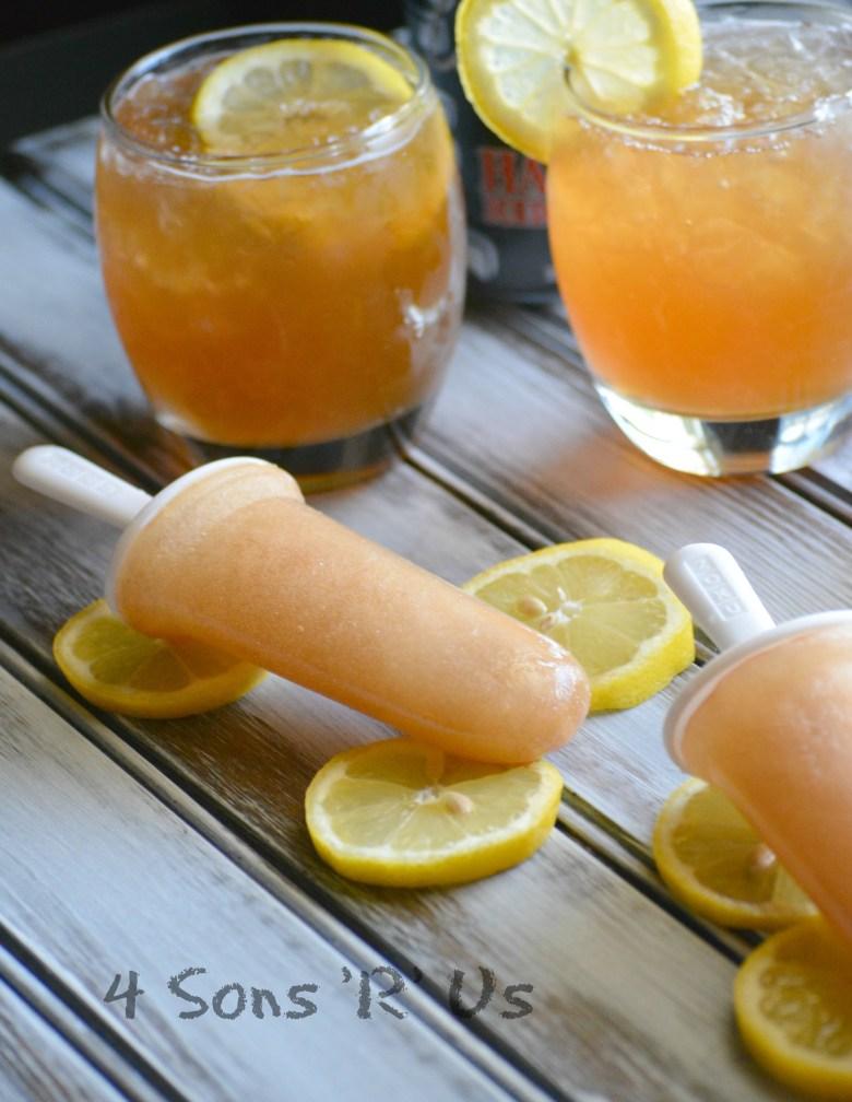 Half & Half (Sweet Tea Lemonade) Popsicles 4