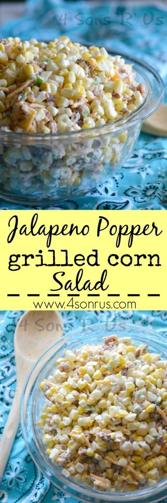 Jalapeno Popper Grilled Corn Salad Pin