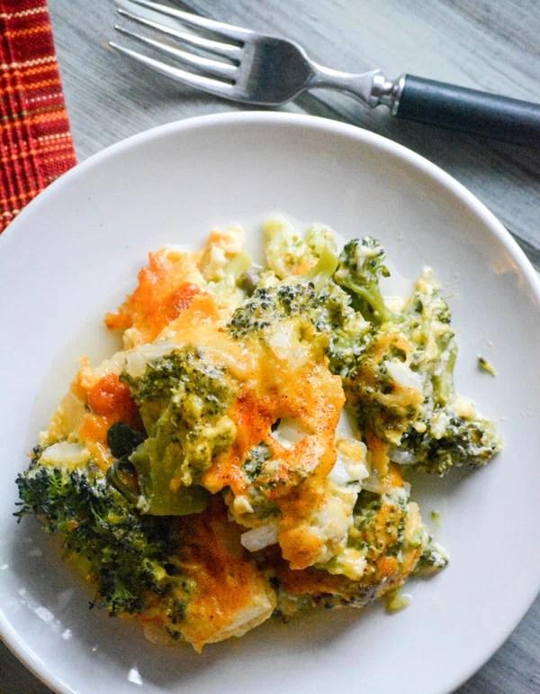 Grandma's Cheesy Broccoli Souffle Casserole