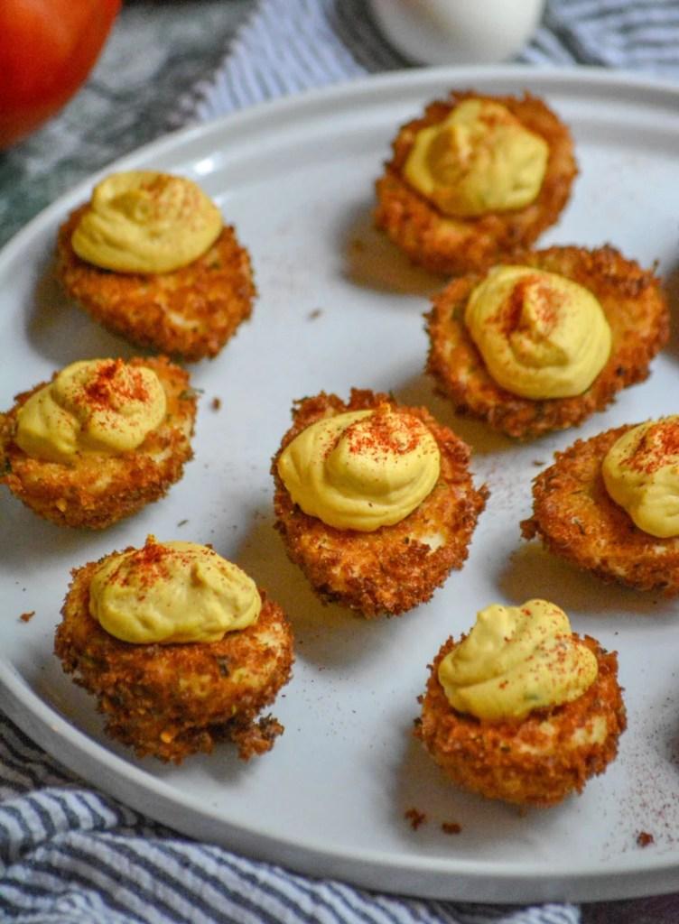 Cajun Style Fried Deviled Eggs