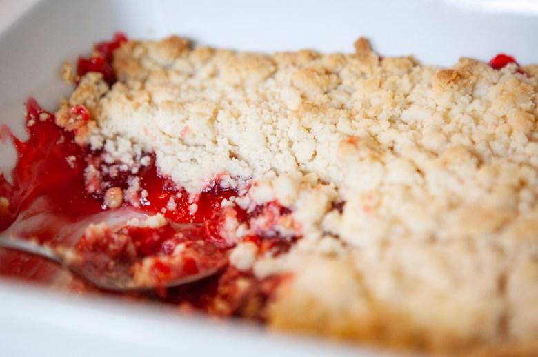 Strawberry Cheesecake Dump Cake