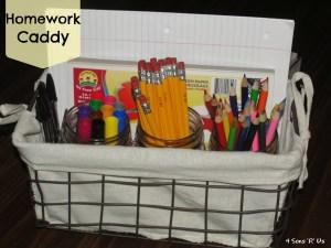 4 Sons 'R' Us: Homework Caddy