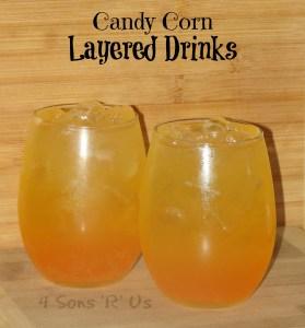 Candy Corn Layered Drinks