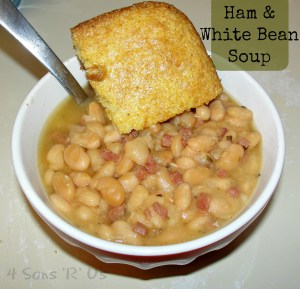 Crockpot Ham & White Bean Soup