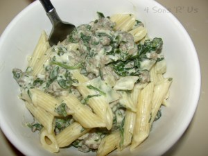 Sausage Florentine with Penne