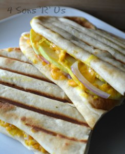 Apple, Red Onion, & Cheddar Panini on Naan Bread