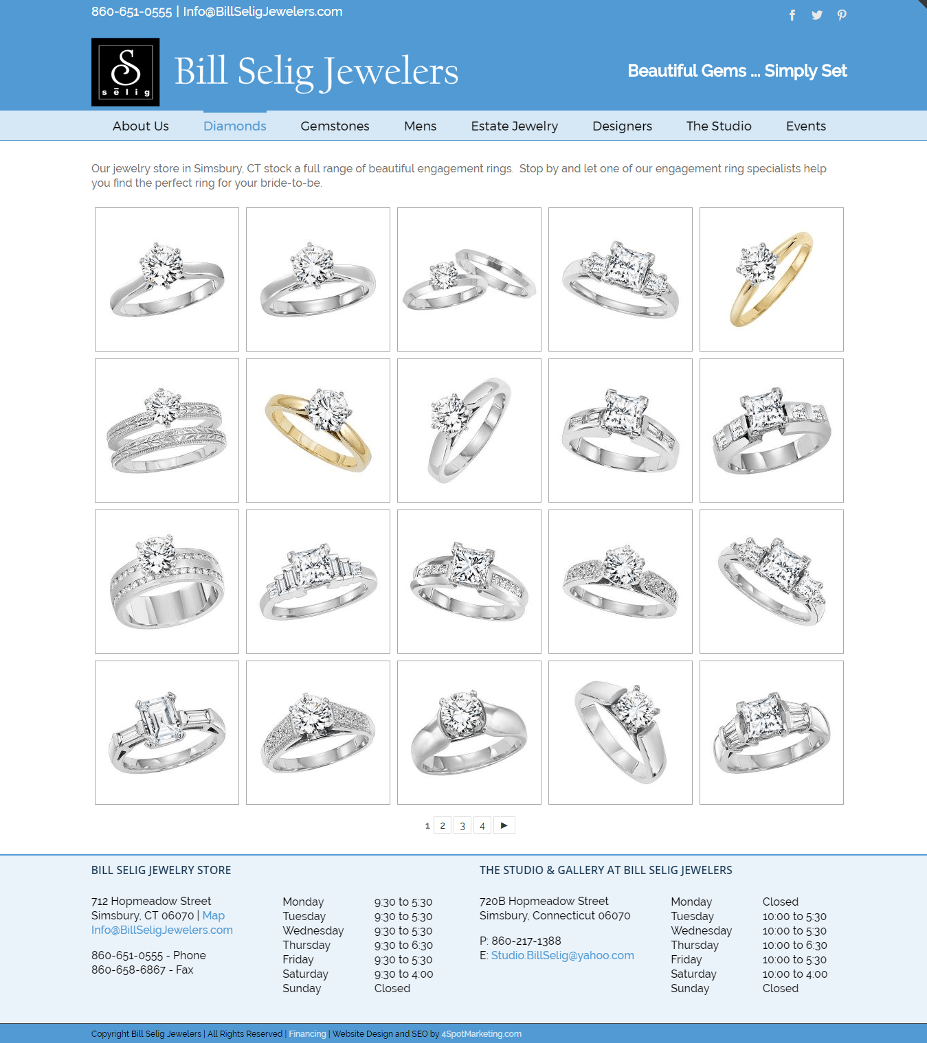 WordPress Website Design Mobile Google Friendly Jewelry