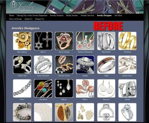Jewelry Store Web Development