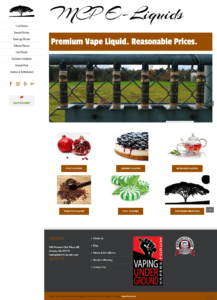 Vape Shop Web Development