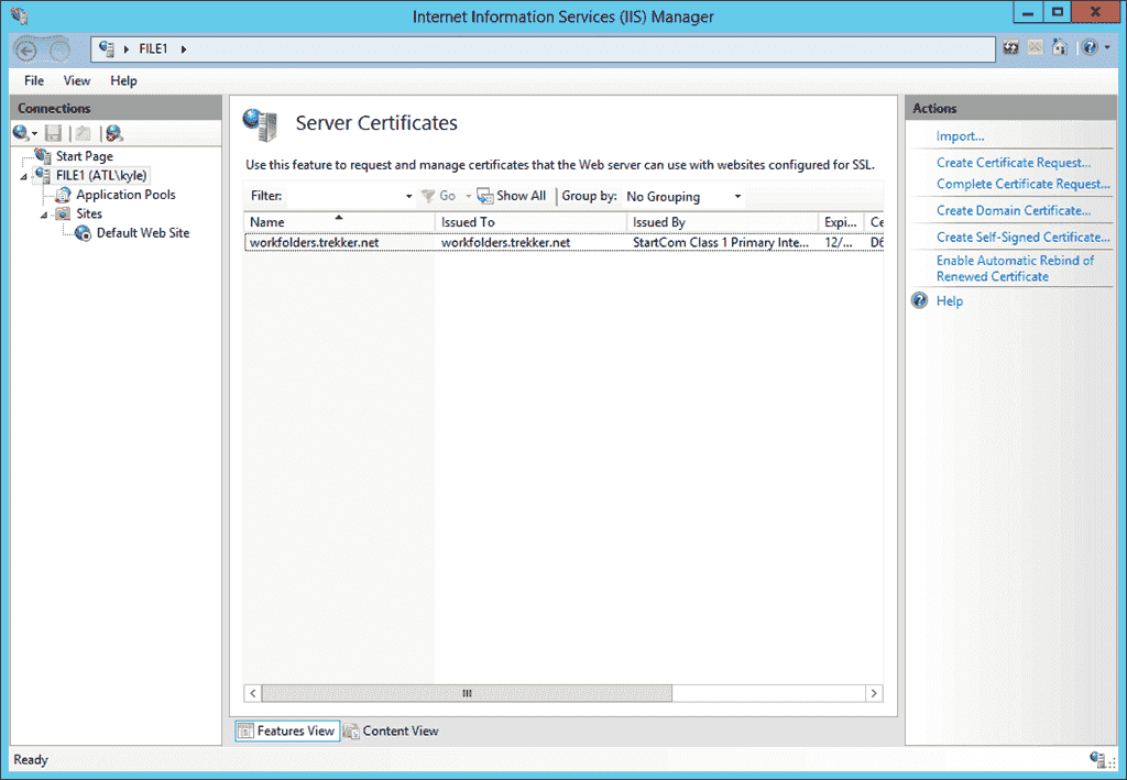 Work Folders  Part 3 Setting up SSL  4sysops