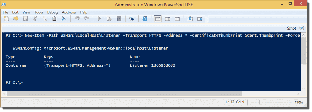 PowerShell Remoting over HTTPS with a self-signed SSL certificate – 4sysops