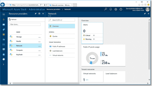 MAS network usage dashboard (image credit Microsoft)