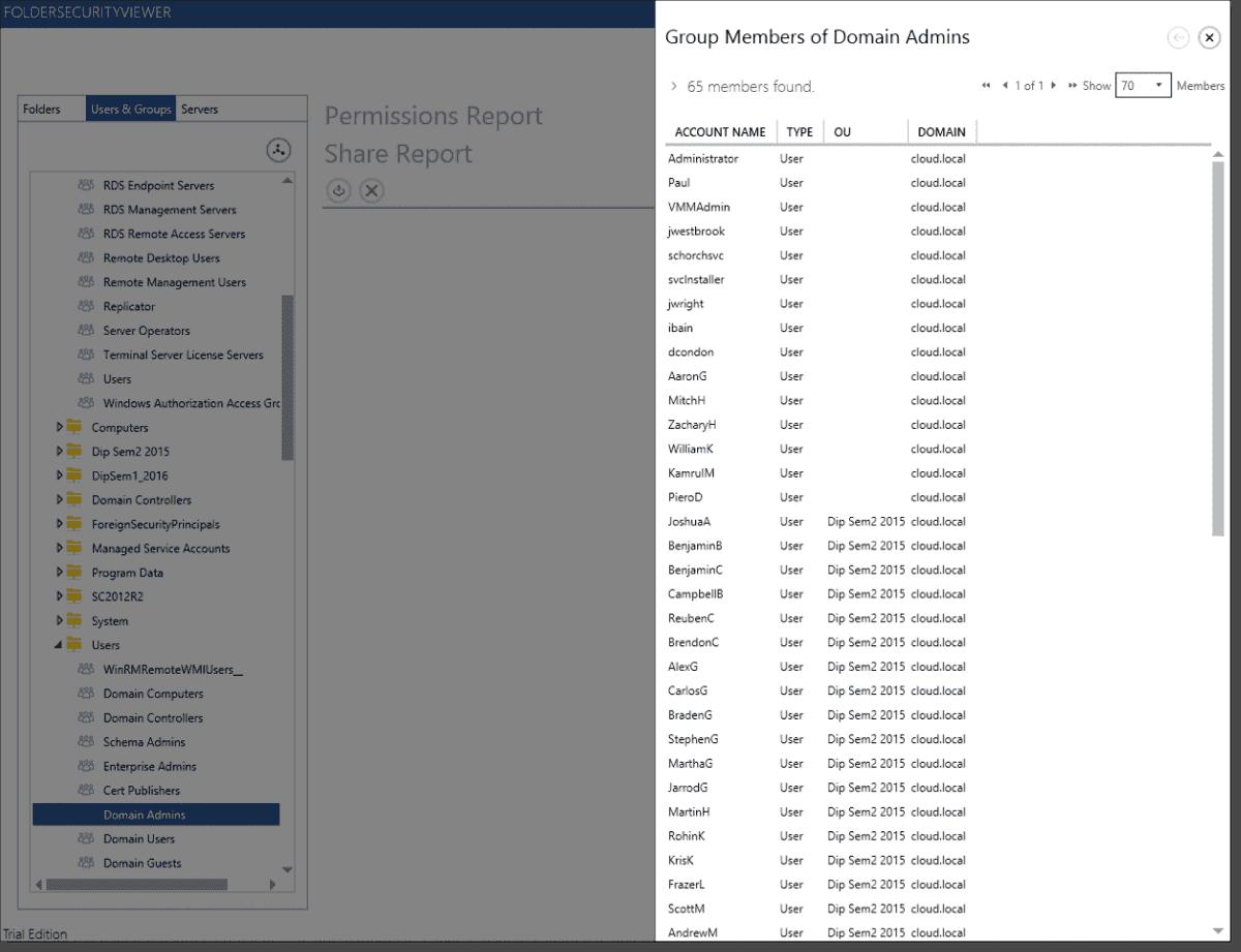 FolderSecurityViewer: Analyze and report on effective NTFS
