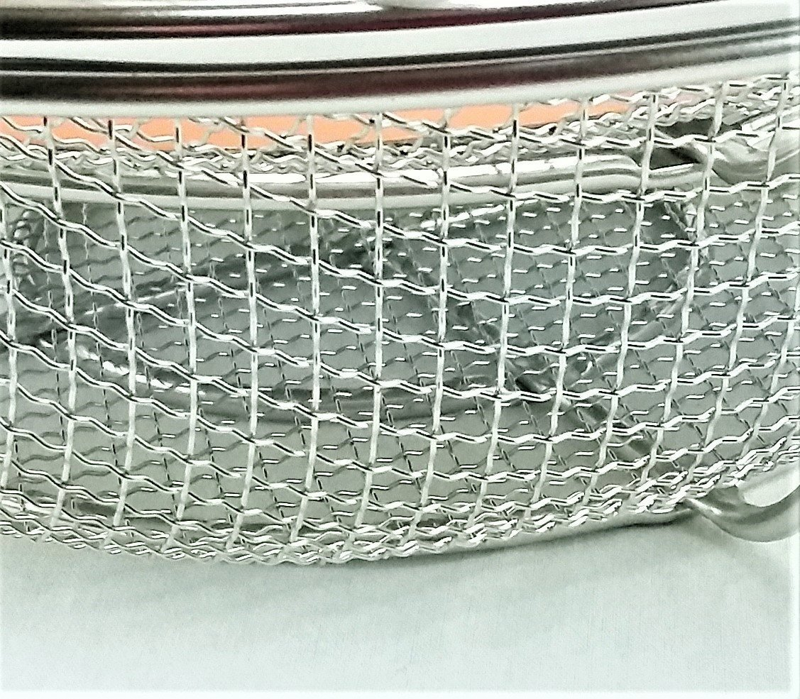 Grill Shaker Basket Wire Mesh 3 In 1 Stainless Steel