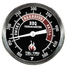 tel-tru barbecue thermometer black dial face
