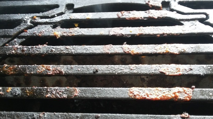 Dirty grill grate
